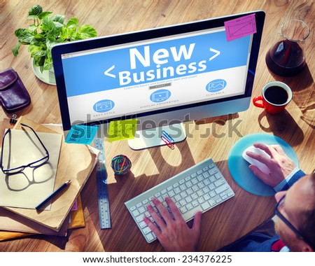 New Business Technology Concept - stock photo