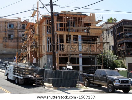 New California construction. - stock photo