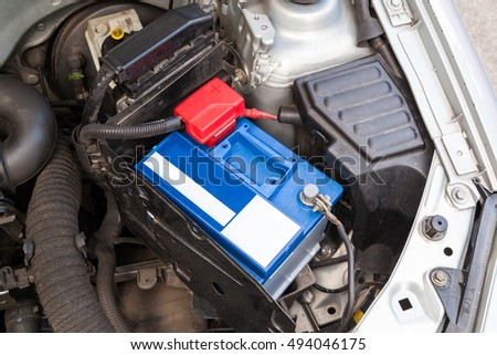 New Car battery in engine room
