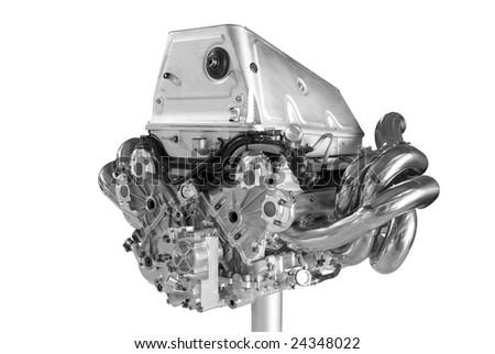 New car engine - stock photo