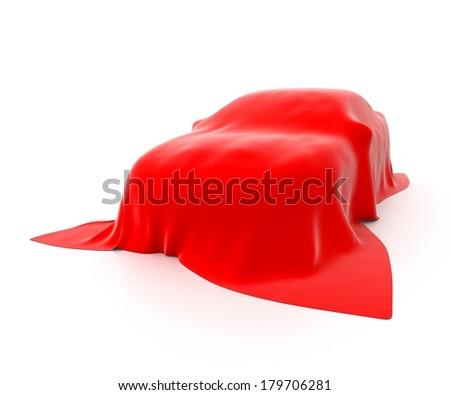 new car presentation isolated on white background - stock photo