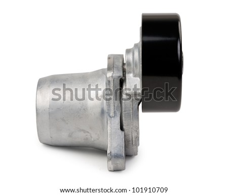 New Car tension roller isolated on white background - stock photo