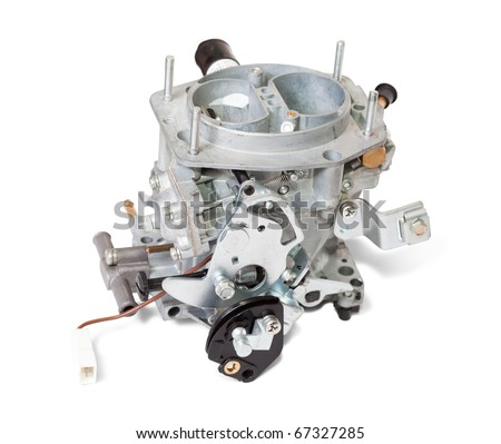 New carburettor. Isolated on white background  with clipping path