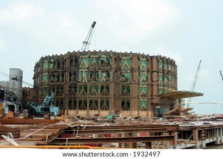 New Casino Under Construction in Macau - stock photo