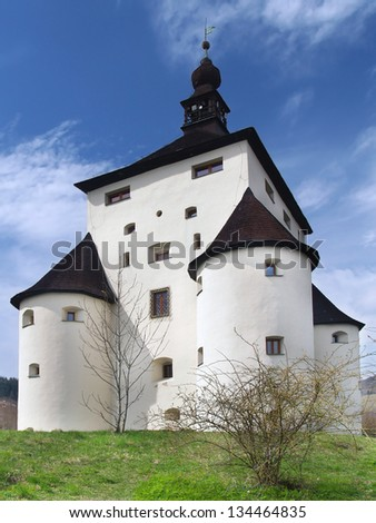 New Castle (Novy Zamok) is a six-floor Renaissance building with four massive bastions located in Banska Stiavnica town, Slovakia. Banska Stiavnica is town inscribed in UNESCO heritage list.