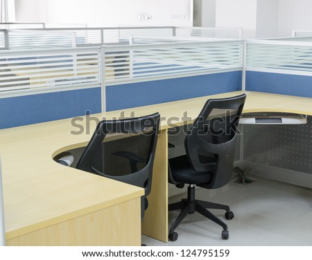 new chair and desk in office room - stock photo