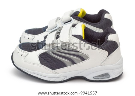new children's shoes /w clipping path - stock photo