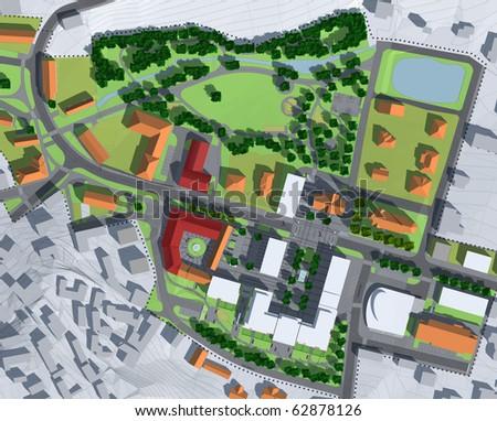 New city design - stock photo