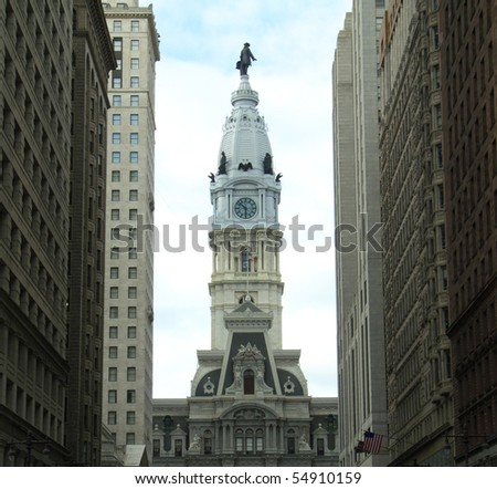 new City hall in Downtown Philadelpia, pennsylvania - stock photo