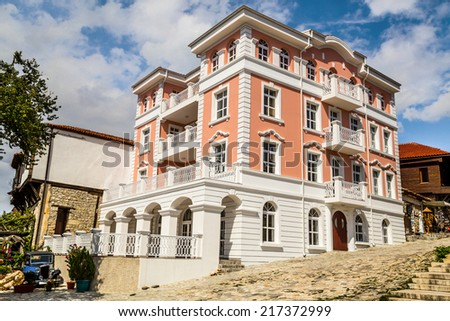 New city hall in Nessebar - stock photo