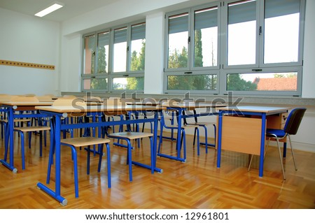New classroom. - stock photo