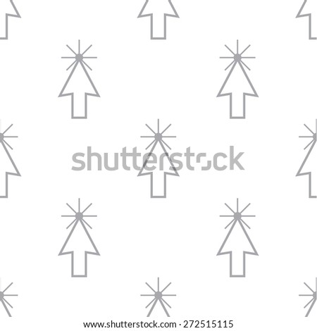 New Click white and black seamless pattern for web design - stock photo