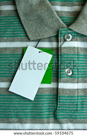 New cloth label - stock photo