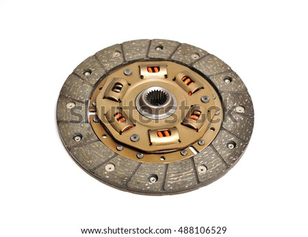 New clutch disc isolated on white background.