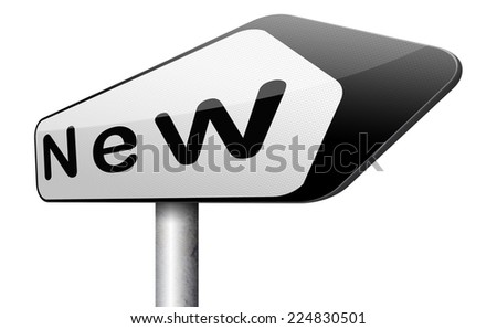 new collection look or releases, new begin or fresh start  - stock photo