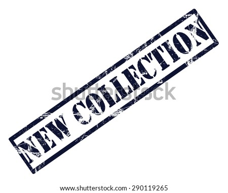 New collection rubber stamp - stock photo