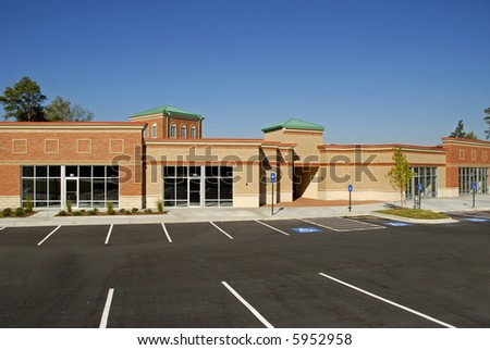 New Commercial Building for Lease - stock photo