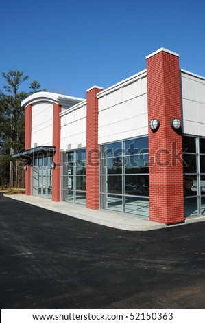 New Commercial Building for Sale or Lease - stock photo