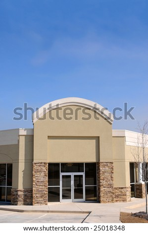 New Commercial Building with Office and Retail Space - stock photo