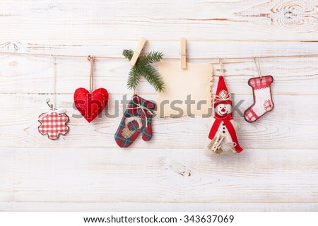New composition of the toys handmade Christmas tree - stock photo