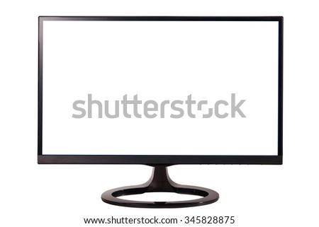 new computer monitor isolated on white background
