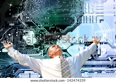 New computers technology - stock photo