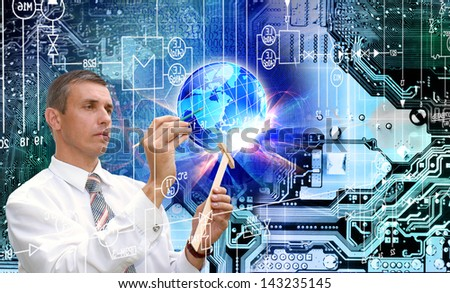New computers technology.Computer generation - stock photo