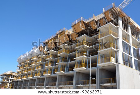 new condo development - stock photo