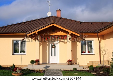 New constructed family house. - stock photo