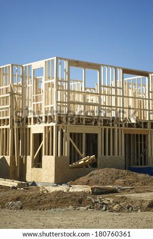 new construction - stock photo