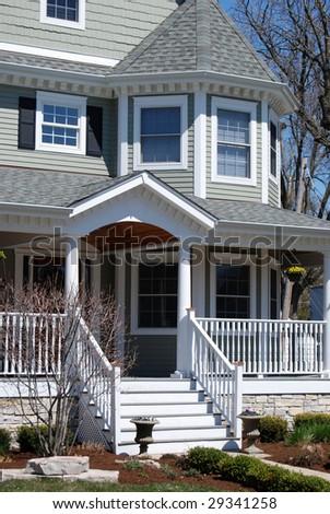 New construction luxury home - stock photo