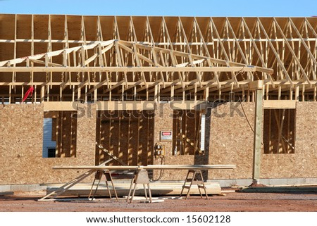 New construction of a home or building.
