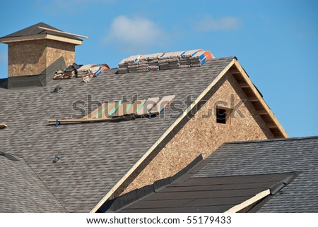 New Construction on House - stock photo