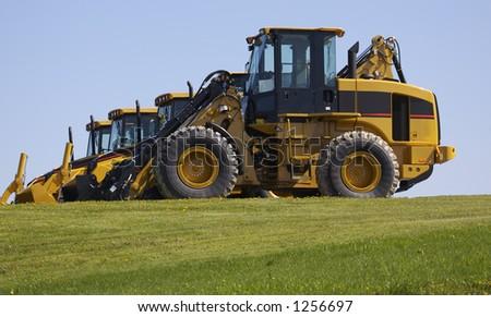 new construction tractors - stock photo