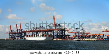 New Container Terminal - stock photo