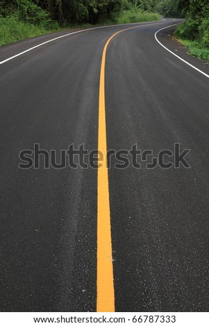 new curve road - stock photo