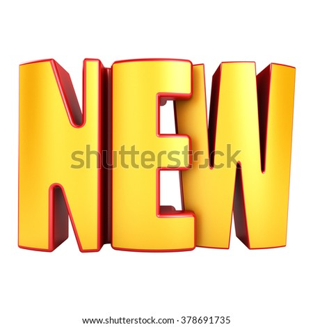 New 3d text isolated over white background - stock photo