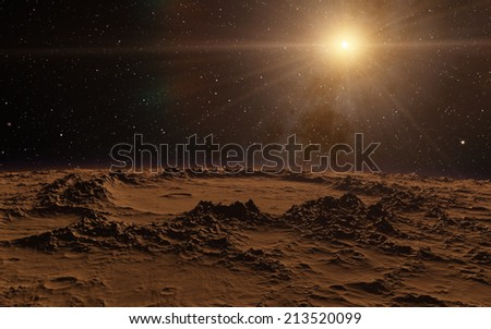 New day dawning deep space - stock photo