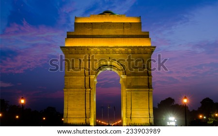 New Delhi, India Gate - stock photo