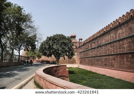 New Delhi's Red Fort, India, March 2015