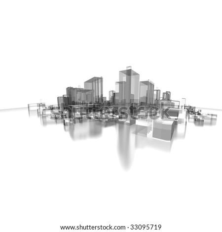 new design cityscape - stock photo