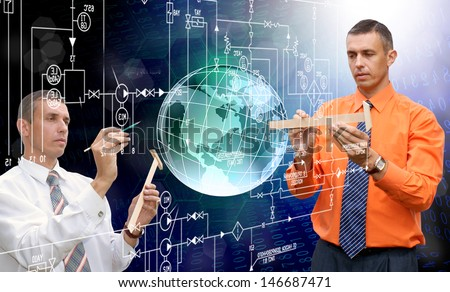 New designing engineering technologies - stock photo