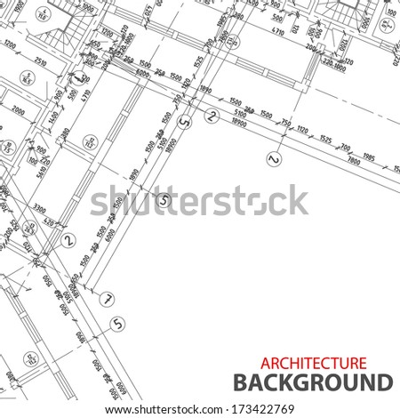 New Detailed architectural project for any design - stock photo