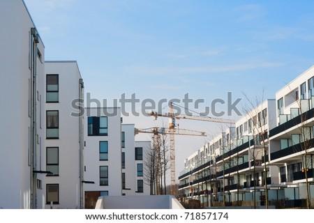 New developed housing area - stock photo