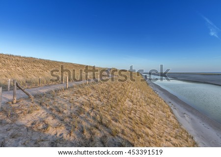New Dike In The Netherlands - stock photo