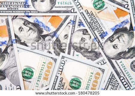 new 100 dollar bill - stock photo