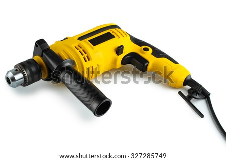new drill on a white background in Studio on white background