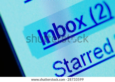 New e-mail message in your inbox. - stock photo