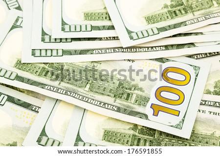 New edition US dollar banknotes. - stock photo