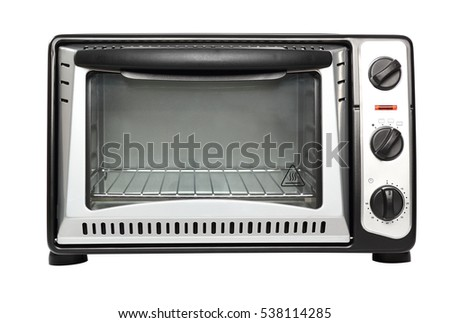 New electric oven. Isolated with clipping path.